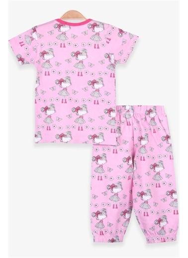 Breeze Kız Bebek Pijama Takımı Çiçekli Pembe  Pembe